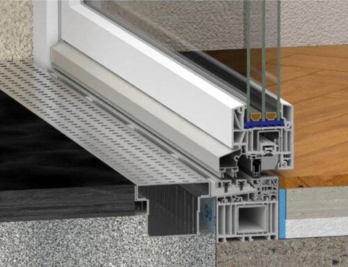 PVC balkonska vrata brez praga